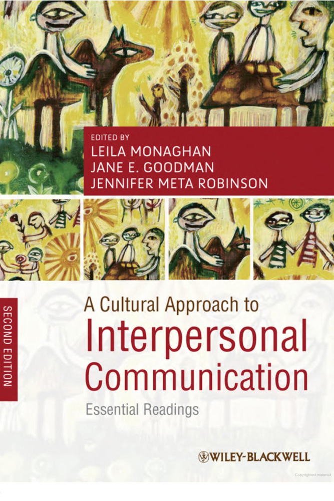 Cultural Aproach to Interpersonal Communication